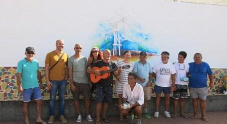 Un mural inaugura las IV Jornadas de Litoral y Medioambiente de Pozo Izquierdo