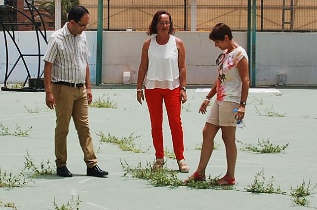 Onalia Bueno, Pino González (c) y Ernesto Hernández
