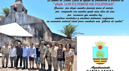 Santa Lucía agradece con una placa el rodaje de 'Los últimos de Filipinas' en el municipio