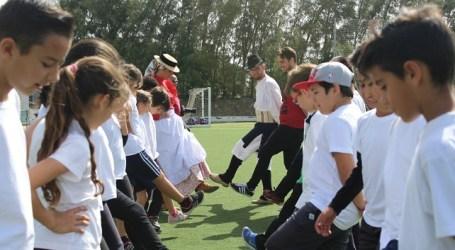 Más de 300 escolares de Santa Lucía participan en el I Encuentro de Juegos y Deportes Tradicionales