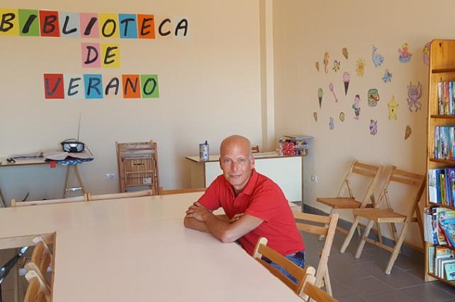 Julio Ojeda, Biblioteca de Verano de Pozo Izquierdo