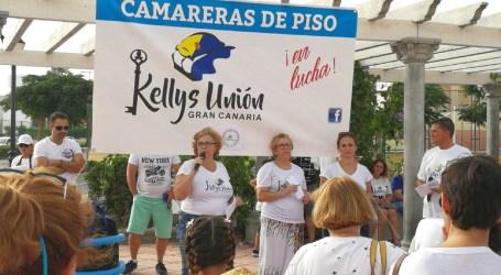 Cientos de personas apoyan a las Kellys en San Fernando de Maspalomas