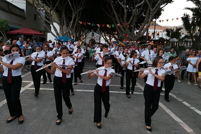 Fiestas de Veneguera, banda La Sabrosa de La Aldea