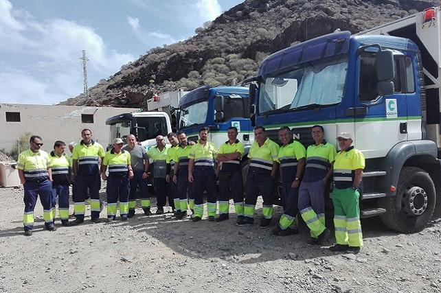 Trabajadores del servicio de recogida de basura