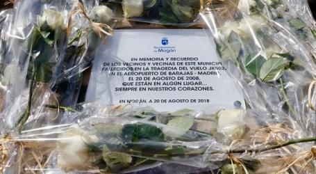 Mogán recuerda en el décimo aniversario a las víctimas del vuelo JK5022 con una placa