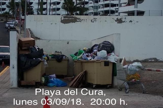 Contenedores de basura Playa del Cura