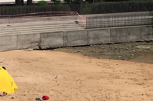 Playa de la Lajilla pierde arena