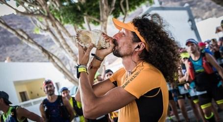 Javier Sosa y Esther Fernández, ganadores de la maratón de 42 kilómetros de la VI Traiña Trail Spar Mogán