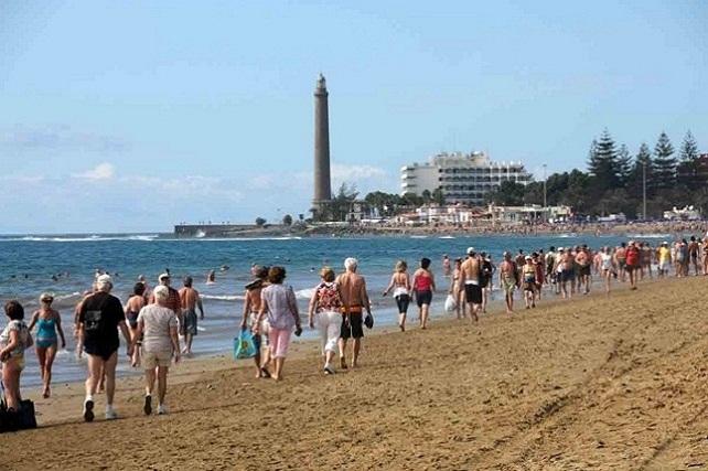 Maspalomas, playa y faro