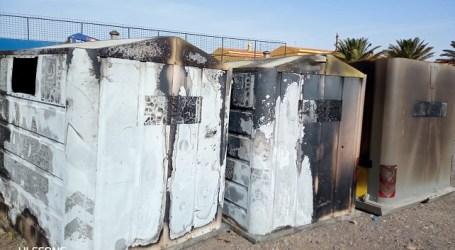 El Ayuntamiento denuncia al presunto autor de la quema de siete contenedores de residuos