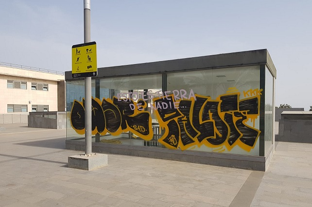 Grafiti en Santa Lucía
