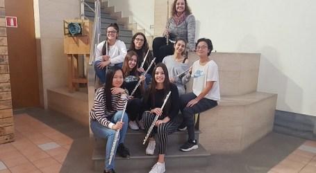 Flautistas de Santa Lucía en el encuentro internacional 'Soplos de Música. Dos naciones, un solo Corazón Musical'