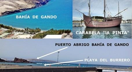 ¿Estuvieron tripulantes de Cristóbal Colón en playa del Burrero?