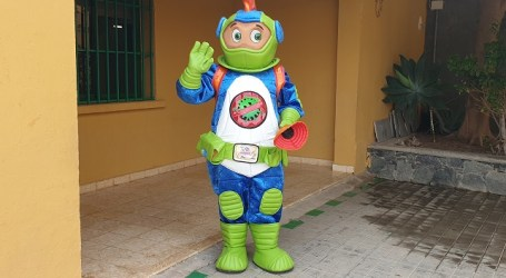 El alumnado de Primaria de Santa Lucía se une al equipo del señor Anti-Covid para luchar contra la pandemia