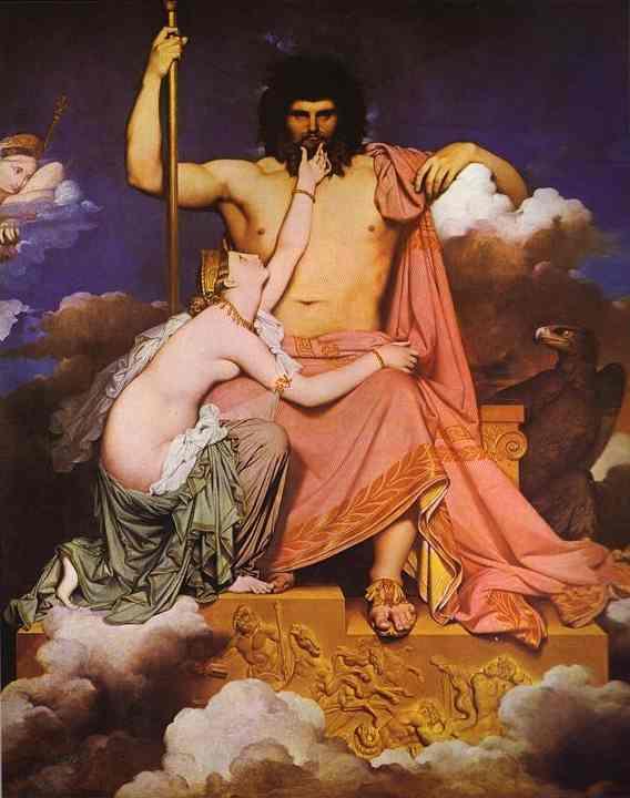 Neoclassicismo: Pittura: Ingres: Giove e Teti