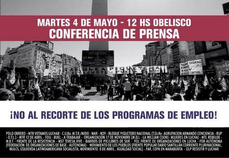 conferencia de prensa Polo Obrero