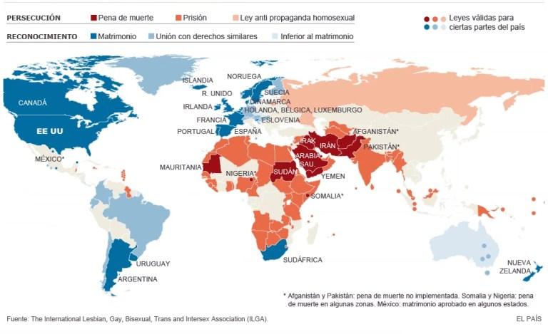 Mapa LGBT Gay Lesbiana Transexual Bisexual