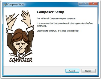 Composer start screen