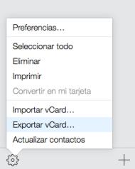 iCloud - Contactos vCard