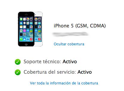 Ver garantía restante Apple