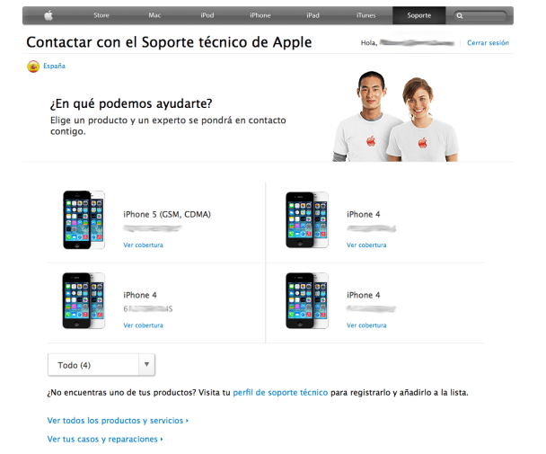 Ver mis productos Apple