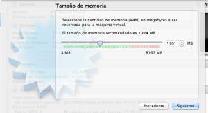 virtualbox memoria ram