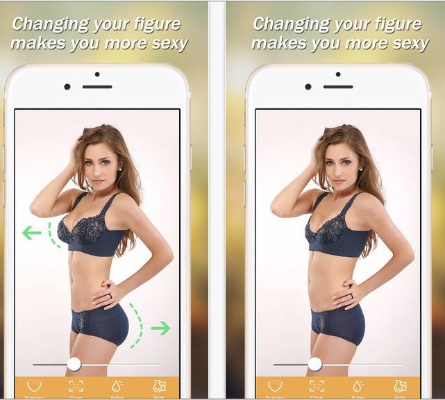 App para adelgazar el cuerpo en fotos gratis