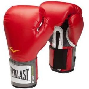 Guantes de boxeo Everlast con velcro Rojos