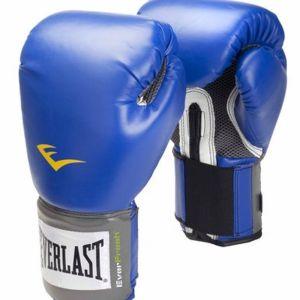 Guantes boxeo everlast azules