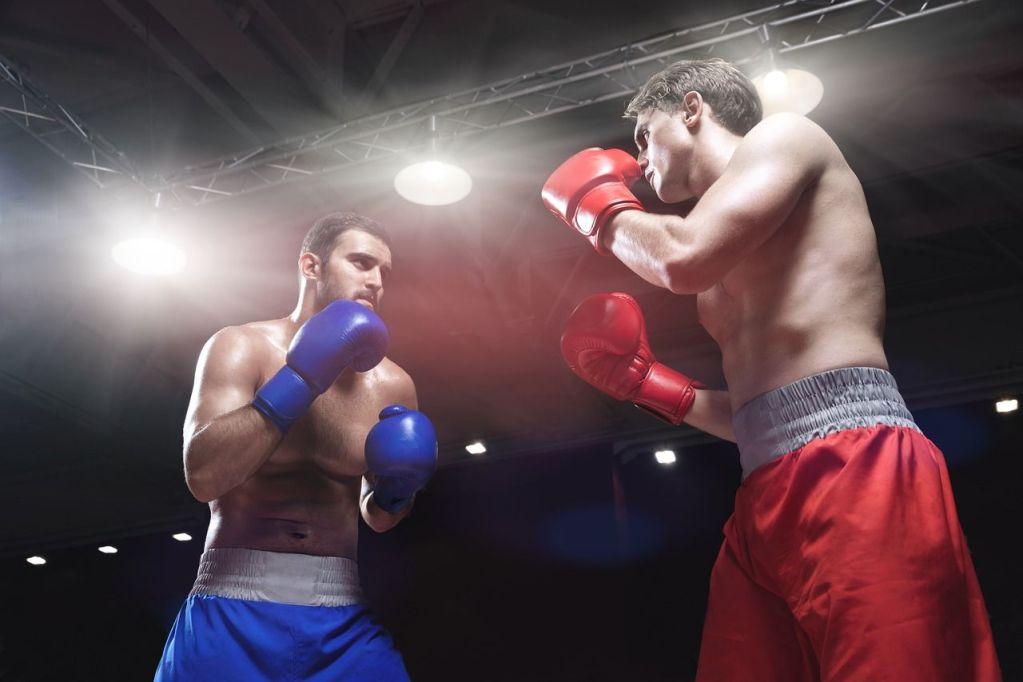pantalon boxeador rojo y azul