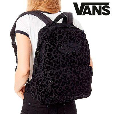 Oferta mochila Vans Realm Backpack Black Leopard barata amazon