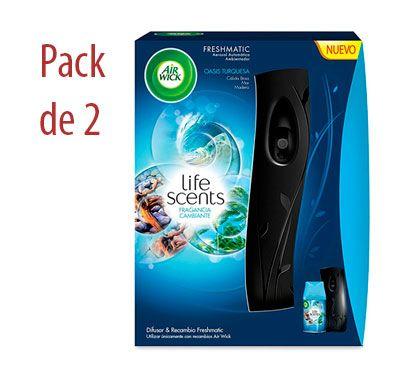 Oferta pack 2 difusores Air Wick Freshmatic+ambientador baratos amazon