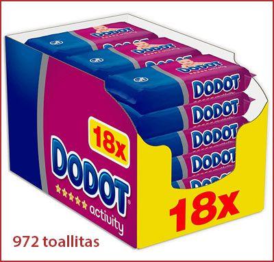 Oferta pack de 972 toallitas Dodot Activity