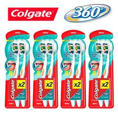 Oferta cepillo de dientes manual Colgate Oral Care 360 Max White pack de 8 baratos amazon