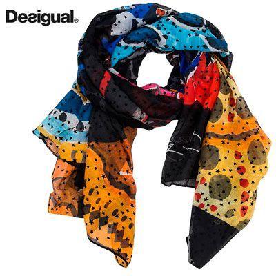 Oferta foulard Desigual Winter Stripes barato amazon