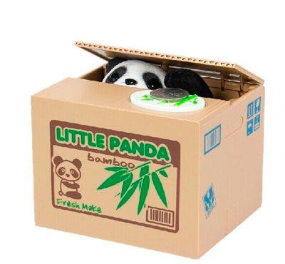 Oferta hucha Panda roba monedas barata