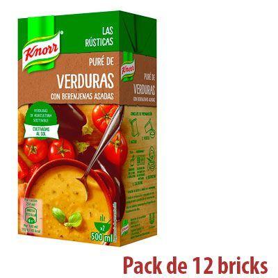 Oferta pack de 12 Knorr Puré de Verduras con Berenjenas Asadas barato amazon