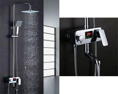 Oferta columna de ducha HOMELODY con pantalla electrónica barata amazon