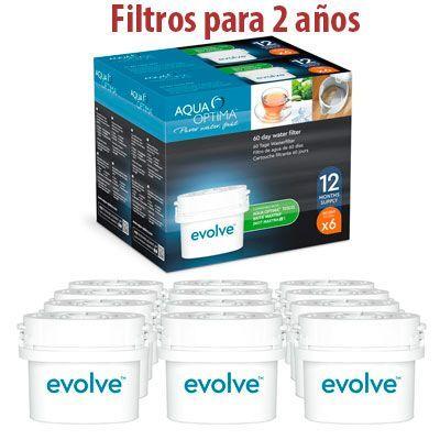 Oferta filtros Aqua Optima Evolve para jarras Brita baratos amazon