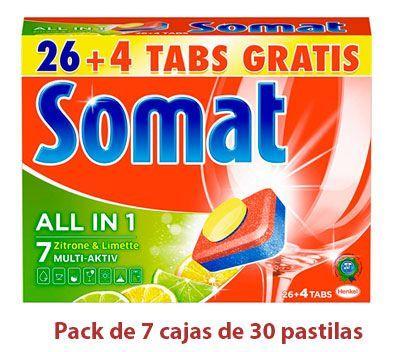detergente para lavavajillas Somat lima y limón 210 pastillas