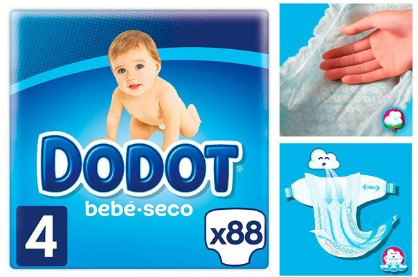 Oferta pañales Dodot bebé seco baratos amazon