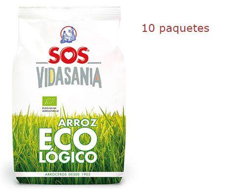 Oferta 10 paquetes de arroz SOS Ecológico barato amazon