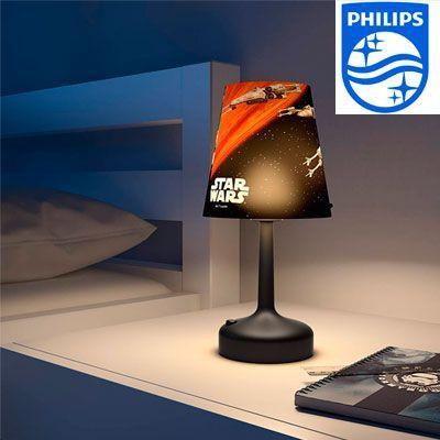 Oferta lámpara de mesa Philips Star Wars Cazas Rebelión barata amazon