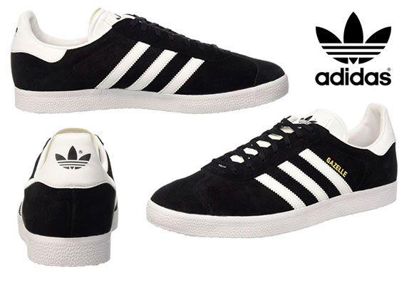 Oferta-zapatillas-Adidas unisex negras-Gazelle-baratas-amazon