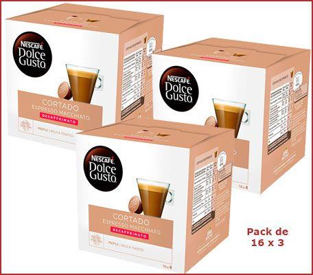 Oferta pack Nescafé Dolce Gusto Cortado descafeinado barato