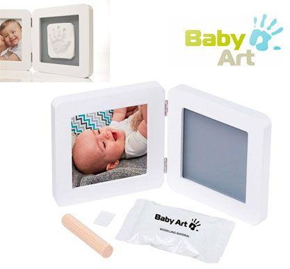 Oferta marco doble foto y huella Baby Art 34120050