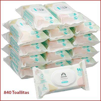 Oferta pack de 840 toallitas para bebé Mama Bear
