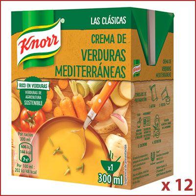 Oferta 12 bricks de Knorr Las Clásicas Crema de Verduras Mediterráneas
