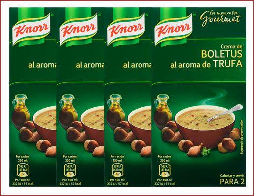 Oferta pack de 4 Knorr Crema de Boletus 500 ml baratas