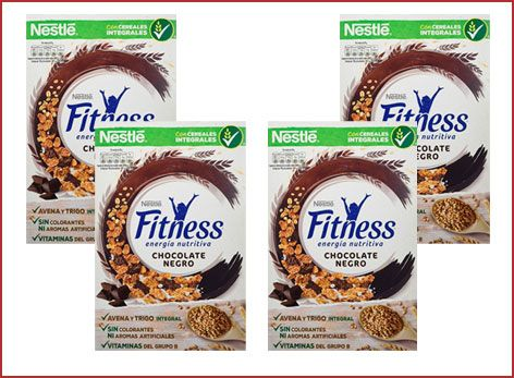 Oferta 4 paquetes de cereales Nestlé Fitness con chocolate negro baratos